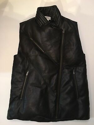 02af59b056 Women's Helmut Lang Leather & Down Puffer Vest Sz M Pre Owned, Perfect  Condition