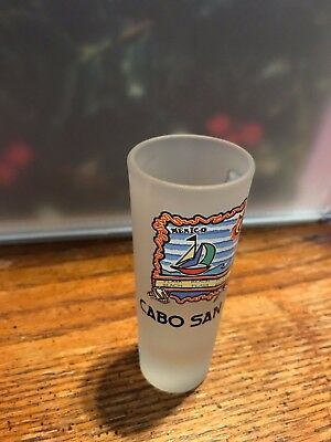 """4"""" Tall Cabo San Lucas Playa Beach Frosted Shot Glass"""