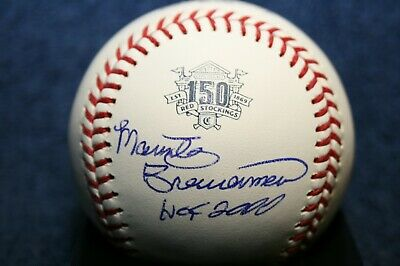 Marty Brennaman Autographed Signed 150 Year Anniversary Baseball Cincinnati Reds