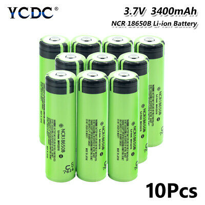 10X 20A High Drain Ncr 18650 Battery Rechargeable 3.7V 3400Mah For Vape E-Cig 3