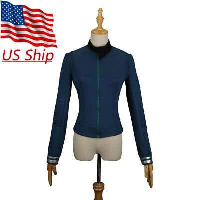 Star Trek Discovery 2 Science Commander Female Blue Uniform Shirt Costume Badge