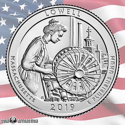 2019 S Lowell National Historical Park America the Beautiful Quarter (Unc)