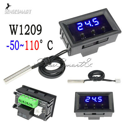 W1209 12V -50-110°C Blue Digital Thermostat Temperature Controller Switch Sensor