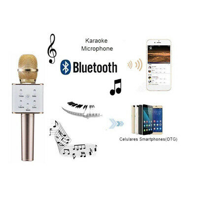 Q7 Wireless Bluetooth Handheled KTV Karaoke Microphone Mic Speaker For Phone PC