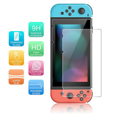 Nintendo Switch HD Clear Tempered Glass Screen Protector Film Anti-fingerprints