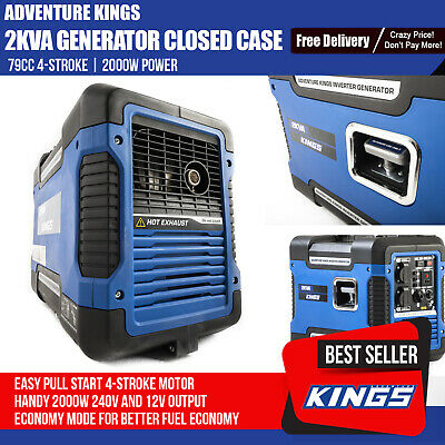 Petrol Generator Camping Portable Rated 2000W 2kVA Pure Sine Wave Inverter