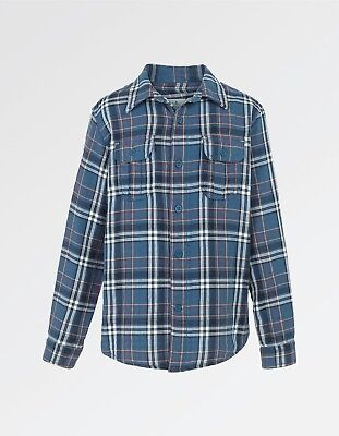 Fat Face - Boys Bramber Check Shirt 12-13 Years SLATE BLUE - Brand New With Tags