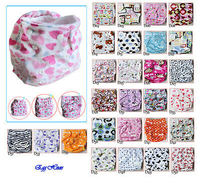 Baby Infant Cloth Diaper One Size Reusable Nappy Covers Liner Inserts Adjustable