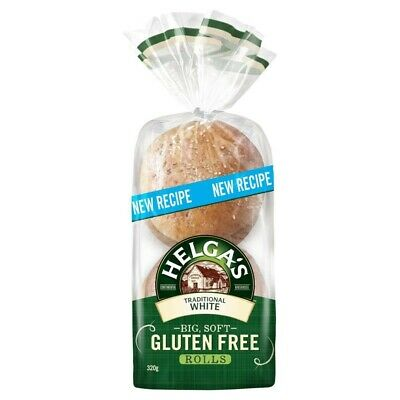 Helga's Gluten Free Traditional White Rolls 4 pack 320g