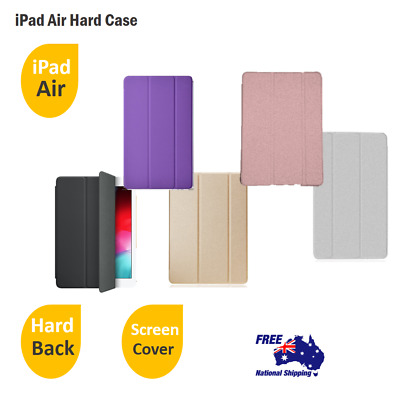 iPad Air Hard Back CLEAR CASE 3 Folds Dust And Skin Protect Smart Stand Cover