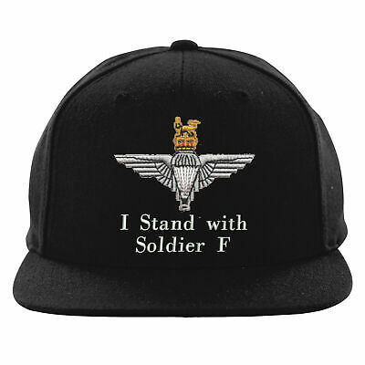 I Stand With Soldier F Embroidered Snapback Parachute Paratrooper Solidarity Hat