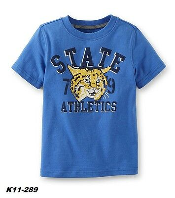 Carter's Toddler Boy's Blue Wildcat State Athletics Graphic Tee Size 3T