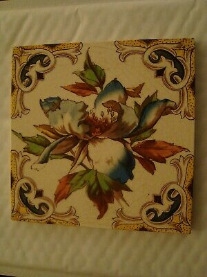 Pretty Antique Floral Tile  19/114
