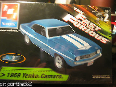 Amt 1969 Yenko Camaro From The Movie The Fast And The Furious Factory Sealed
