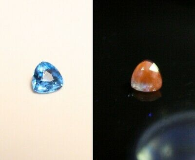 0.05ct Fluorescent Afghanite - Rare Electric Blue Faceted Gem