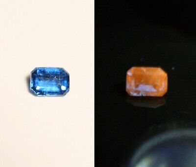 0.10ct Fluorescent Afghanite - Rare Electric Blue Faceted Gem