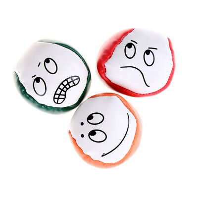 Face expression  juggling balls learn to juggle beginner kit kid toy giftLH