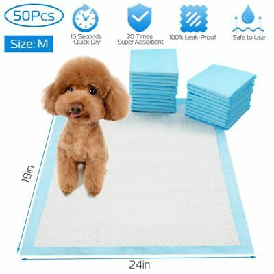 50 Pcs Puppy Pads Dog Pet Toilet House Training Wee Potty Pee Mats Cat Poo Pad