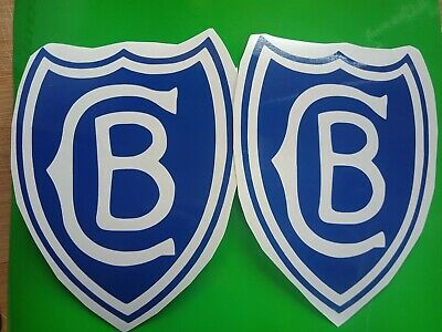 Cantebury Bankstown Bulldogs Vintage Stickers X2 Nrl Rugby League Scanlens