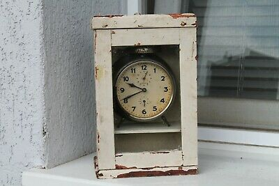 Vintage Old German Made Junghans Desk Clock With Wooden Box