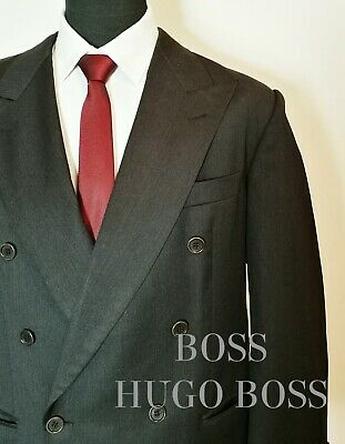c13abbb2f Vintage Hugo Boss 100%Wool Tuxedo Black Suit Sz40 Double Breasted  Zeus/Akropolis