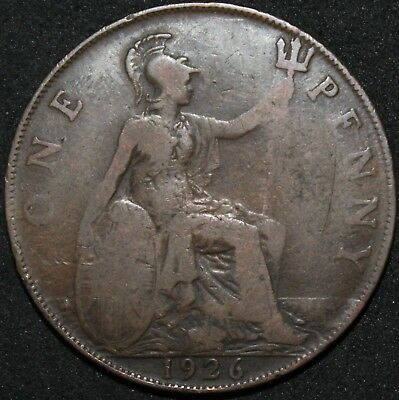 1926 | George V One Penny 'Modified Effigy' | Coins | KM Coins