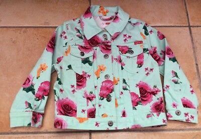Name It Baby Girls Dione Green Floral Twill Jacket Age 9-12 Months Denim Style