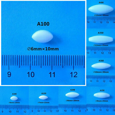 7 Size PTFE Olive Cone Teflon Magnetic Stirrer Type A Mixer Stir Bar 5pcs White