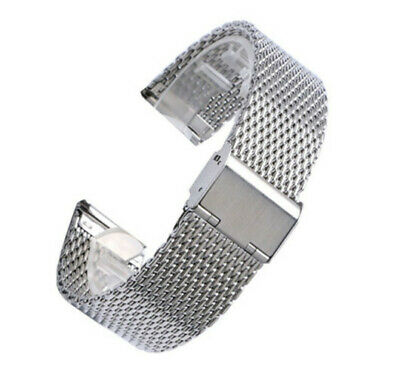 20mm 22mm Mesh Stainless Steel Bracelet Wrist Strap Milanese Watch Band Link