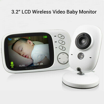 3.2 Inch Video Baby Monitor With Night Vision Camera Full Color Security Cam AU