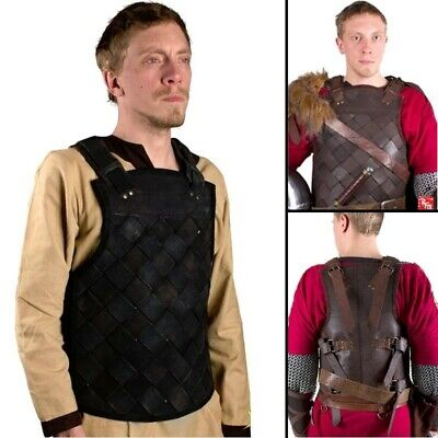 Viking Leather Lattice Weave Style Body Armour for Costume, Re-enactment & LARP