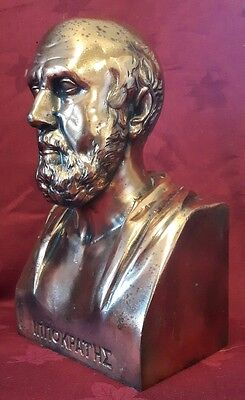 Large Metal Bust Of Hypocrites - Father Of Medicine