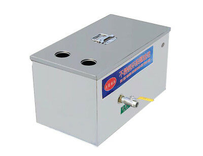 Stainless Steel Two Water Inlet Grease Trap Interceptor for Restaurant Kitchen