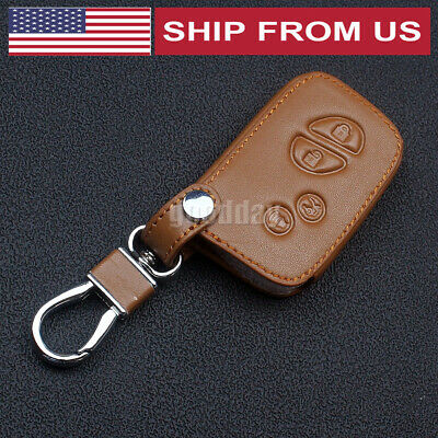 Leather Case Cover Holder For Lexus Remote Smart Key 4 Buttons HYQ14FBA LE4SHUP