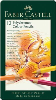 Faber-Castell Polychromos Artists' Colour Pencil 12 Tin Set