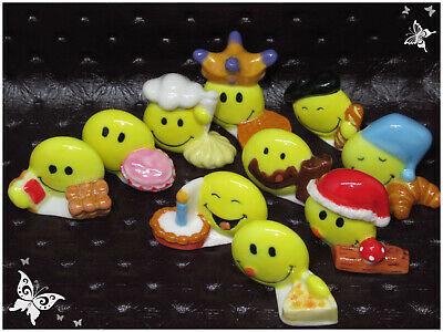 Feves Prime 2009 Gourmand Smiley World Serie Complete 10 Pieces