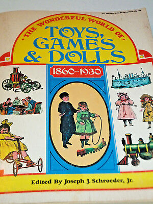 Vintage Wonderful World of Toys Games & Dolls Collectors Price Guide 1860-1930
