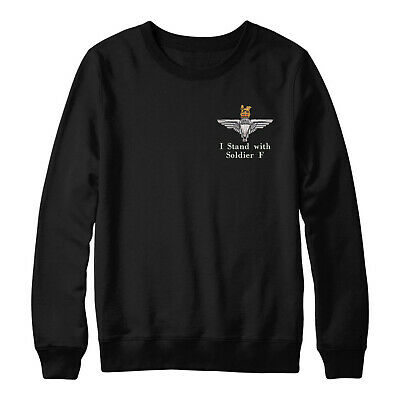 I Stand With Soldier F Embroidered Sweatshirt, Parachute Paratrooper Jumper Top