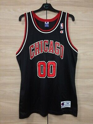 eb3f8e70031 Chicago Bulls  00 Champion NBA Basketball Vintage Rare Jersey Shirt size 44