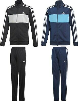 07429f0f4a06 Adidas Tiberio TrackSuit Kids Boys Junior Sport Football Jacket Pants Black  Navy