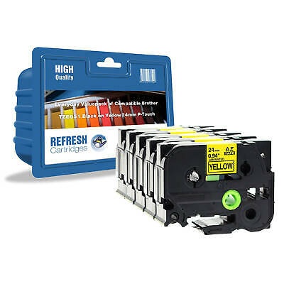 Refresh Cartridges  Tze-651 Compatible With Brother Label Printers