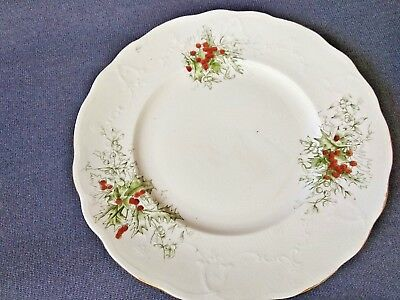 """Antique Laughlin China Semi-Vitreous - Colonial - 8"""" Plates - Holly Berries"""