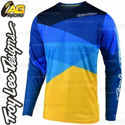 Troy Lee Designs 2019 GP Air Jet Yellow Blue Race Jersey Shirt Motocross Enduro