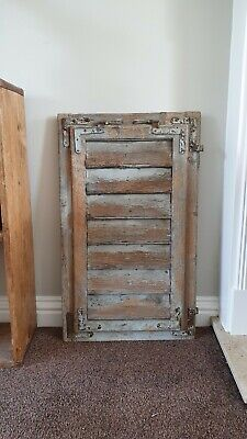 Large  VINTAGE WOODEN European window shutter shabby chic rustic