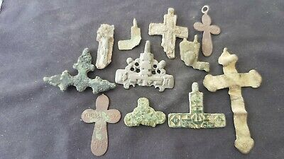 Nice Lot of European crucifixs, Medieval to 20th C Please read description L123a