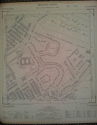 1954 sheet map of St Annes, Nottingham