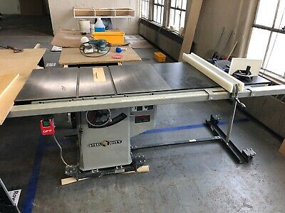 """Steel City 10"""" Cabinet Table Saw & Extension 240VAC, 1 Ph. 3HP Used"""