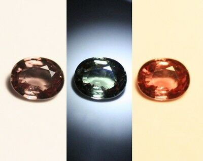0.96ct Colour Change Garnet - Custom Cut Gem with Rare Superb Colour Change