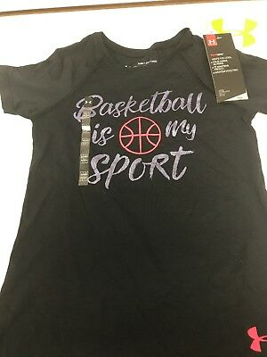 Under Armour Girls Shirt Size XS Basketball Is My Sport Tee