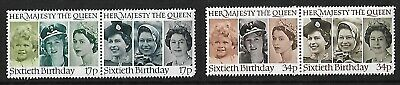 1986 - GB QE II 60th Birthday Set of 4 Stamps MNH SG 1316 - 1319